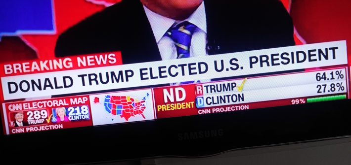 Donald Trump zum US-Präsidenten gewählt. Foto: SR