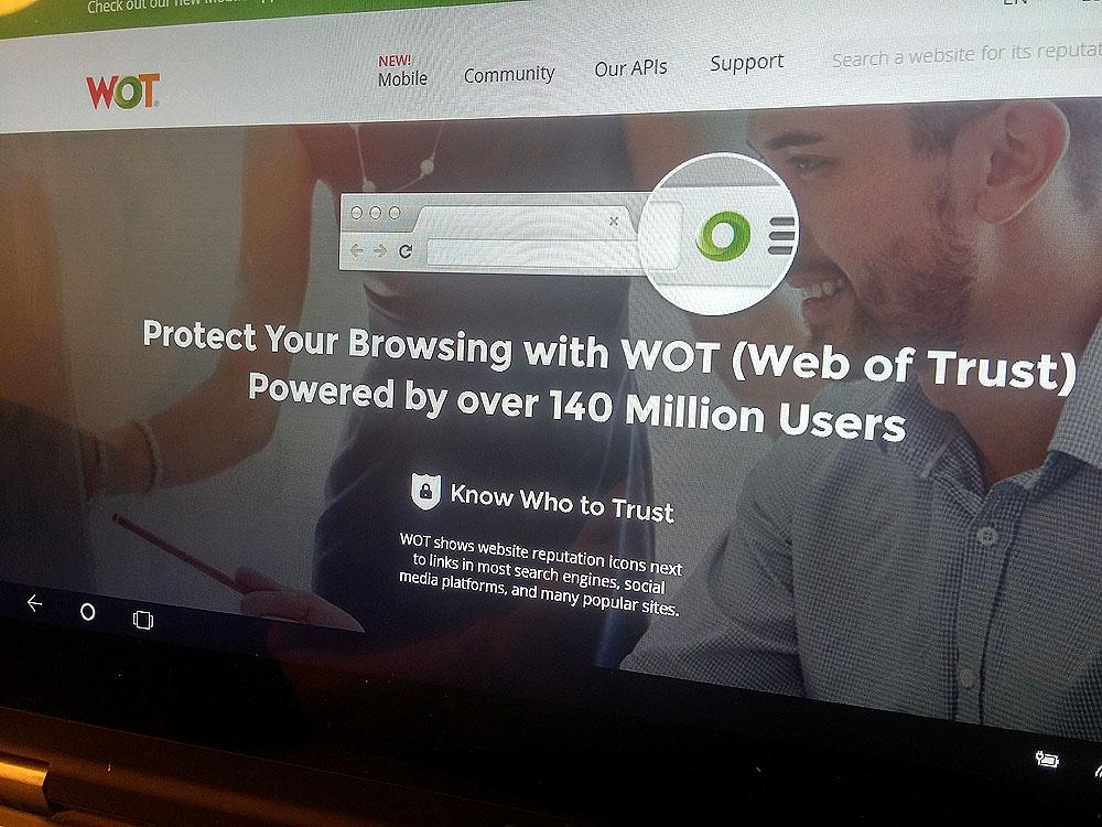 Web of Trust: Browser-Erweiterung späht Millionen Computernutzer aus. Foto: SR