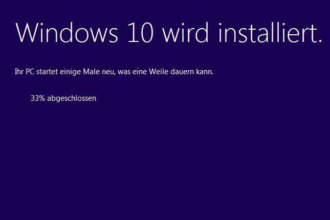 Window 10 Installation: Ärger mit der neugierigen Websuche. Screenshot: SR