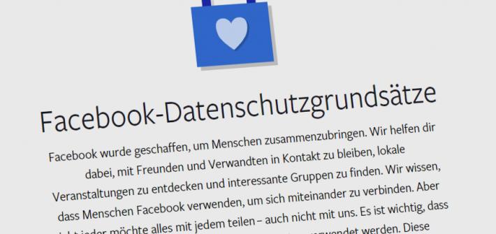 Facebook Datenschutzgrundsätze... Angesichts der Pannen wirken sie eher albern... Screenshot: SR