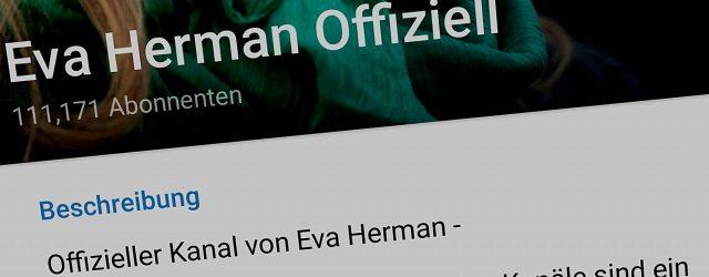 Ein Screenshot von Eva Hermans Telegram-Kanal zeigt, dass sie inzwischen über 110.000 Follower hat.